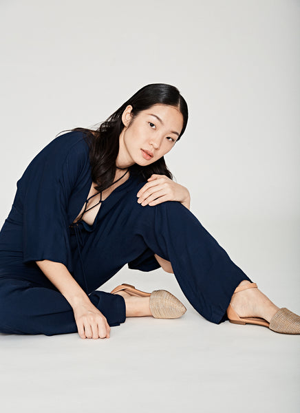 Titania Jumpsuit in Navy