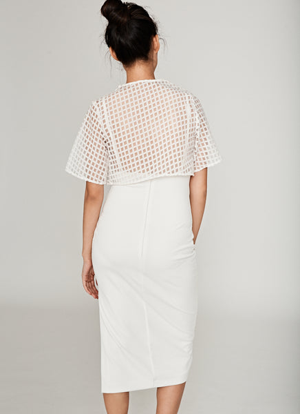 Yard Sheer Overlay Midi In Cream