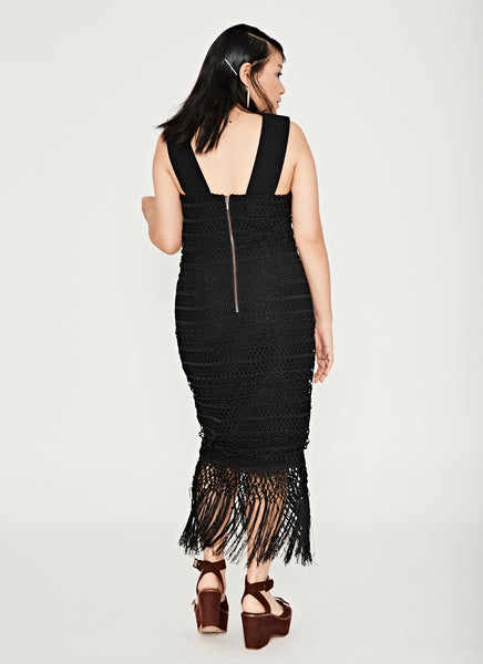 Mirage Fringe Dress