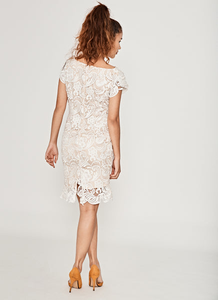 Ivory Pearl Lace Dress