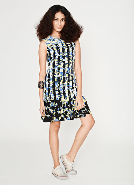 Printed Sleeveless Short Dress