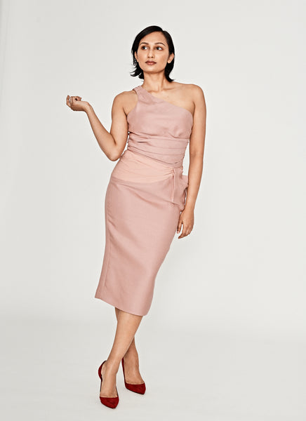 Toga Blush Cocktail Dress