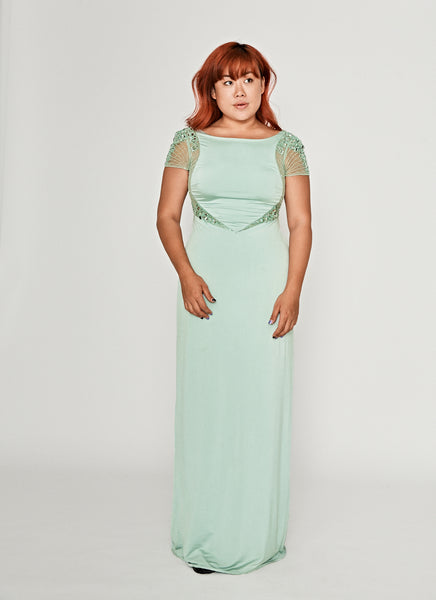 Mint Delight Cap Sleeve Dress