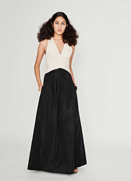 Halter Neck Monochrome Gown