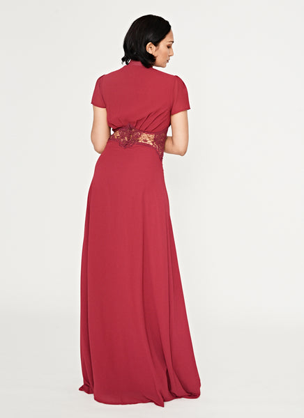 Magenta Cut Out Gown