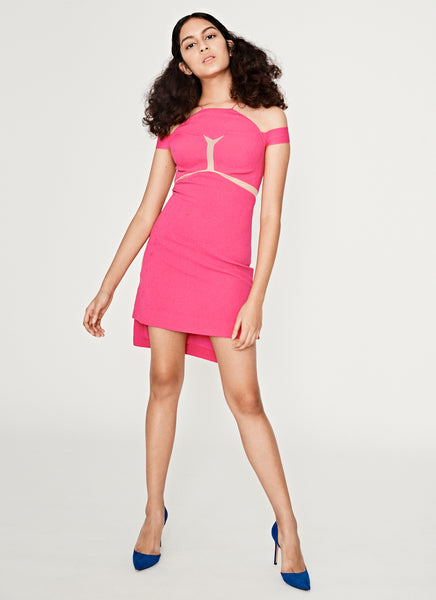Kix Minin Dress On Hot Pink and Nude