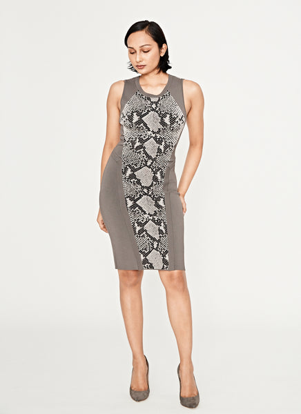 Franca Light Grey Combo Dress