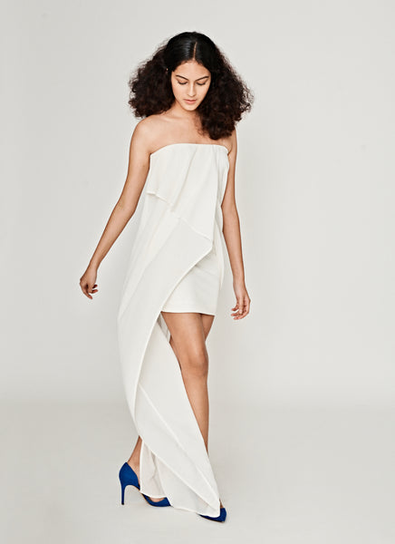 Creator Strapless Maxi In White