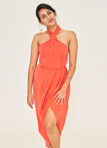 Coral Power Dress