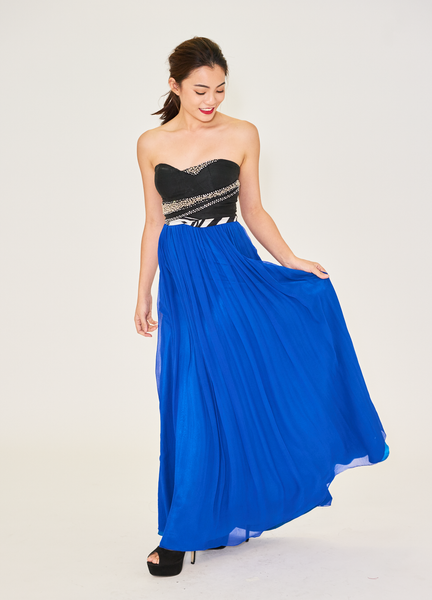 Emma Strapless Chiffon Dress