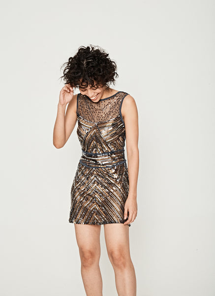 Sheer Sequin Dress