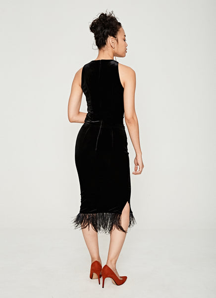 Mesh Feather Dress