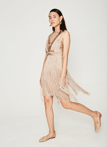 Cocktail Party Gatsby Fringe Dress Side View