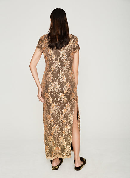 Bronze Beaded Cheongsam