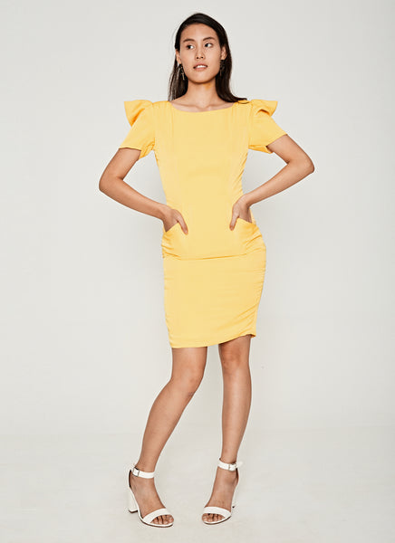 NM Yellow Cocktail Petunia Dress