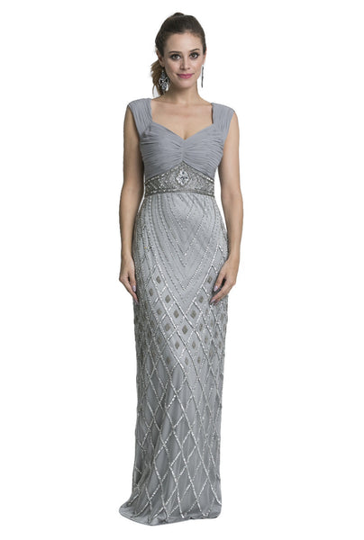 Grey Beaded Dress