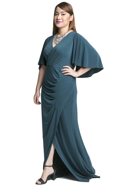 Vintage Inspired Draped Gown