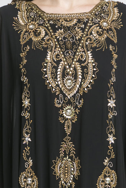 NM Black Embellished Kaftan