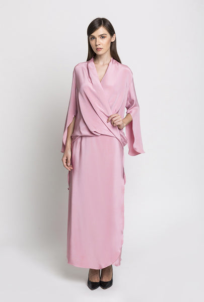 Pink Draped Top and Sarong