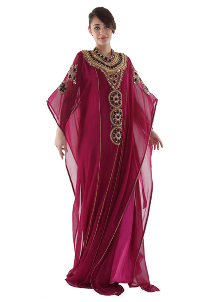 NM Red Moroccan Kaftan