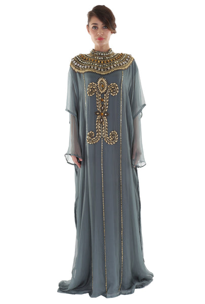 NM Grey Moroccan Kaftan
