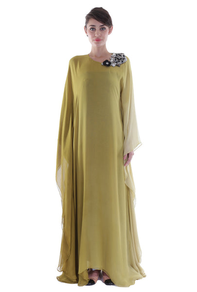 Olive Two Toned Olive Kaftan