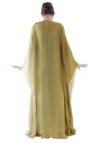 NM Two Toned Olive Kaftan