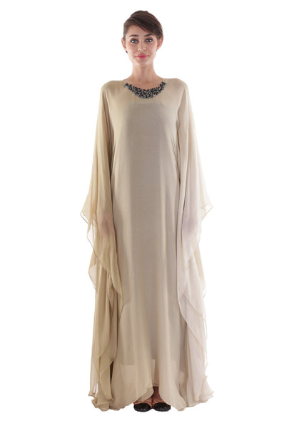 NM Two Toned Sand Kaftan
