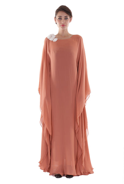 NM Two Toned Peach Kaftan