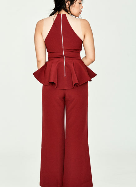 Dacharis Jumpsuit (Maroon)