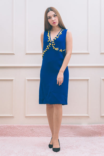 Cady Crepe RIc. Blue Dress