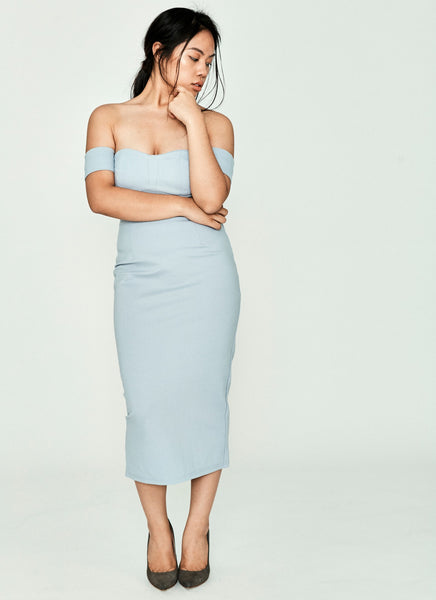 Derfirla Sheath Dress (Pale Blue)