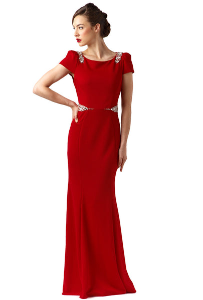 Red Embellished Long Dress