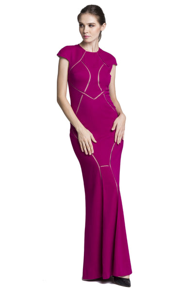 Magenta Cap Sleeve Dress