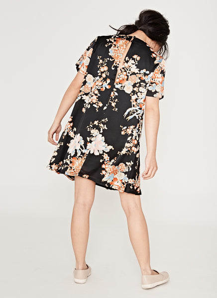 Oriental Printed Shift Dress