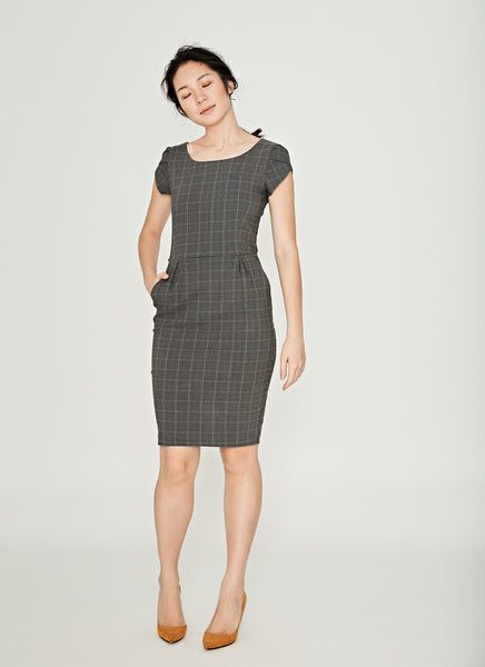 Checkered Work Dress