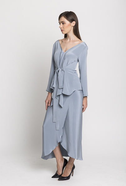 Periwinkle Reverse-Wrap Top and Sarong