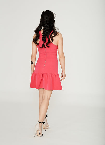 Flare Cross Bodice Dress