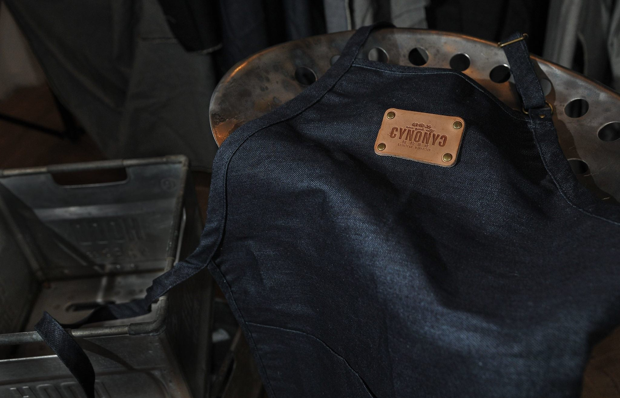 DENIM APRON - CYNONYC Chinatown Clothing Company