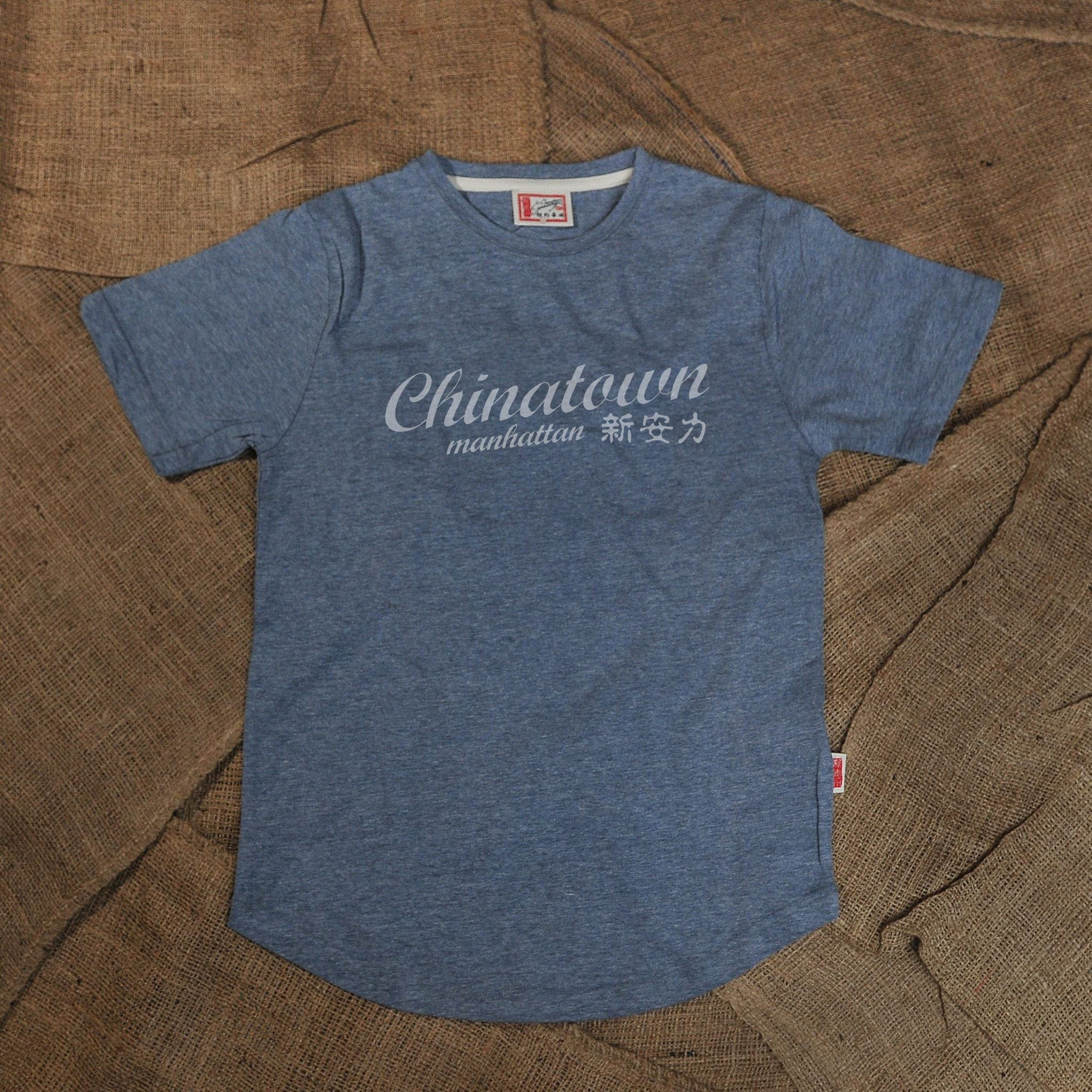 CHINATOWN MANHATTAN TSHIRT (BLUE) - CYNONYC Chinatown Clothing Company