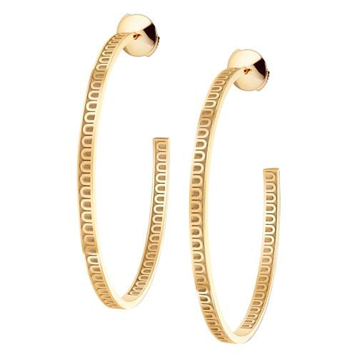 L'Arc de DAVIDOR Creole Earring GM, 18k Yellow Gold with Satin Finish