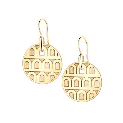 L'ARC DE DAVIDOR Pendant Earring PM, 18k Yellow Gold with Satin Finish