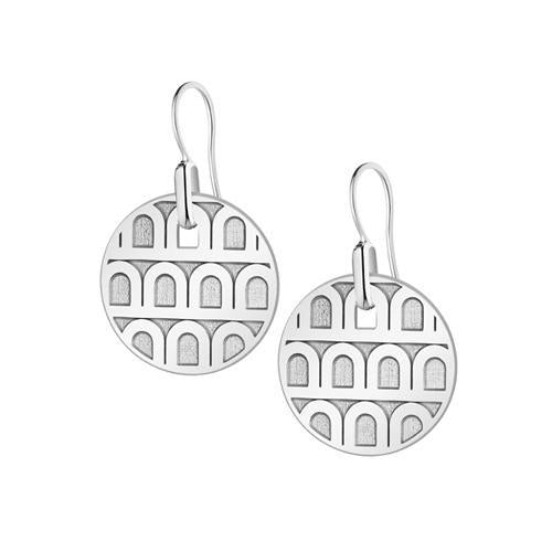 L'ARC DE DAVIDOR Pendant Earring PM, 18k White Gold with Satin Finish