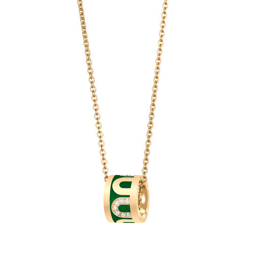 L'Arc de DAVIDOR Bead, 18k Yellow Gold with Lacquered Ceramic and Colonnato Diamonds