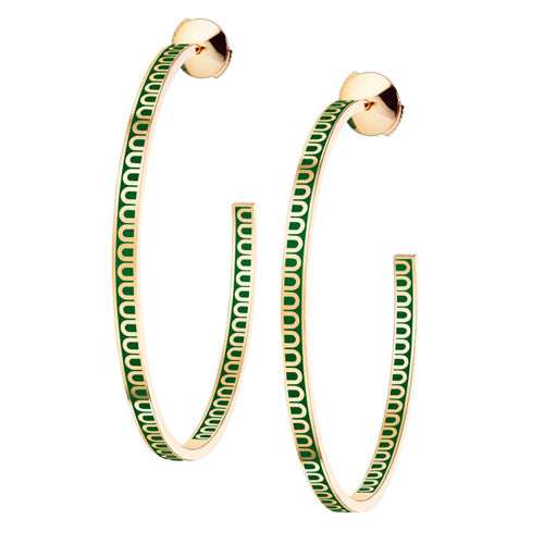 L'Arc de DAVIDOR Creole Earring GM, 18k Yellow Gold with lacquer