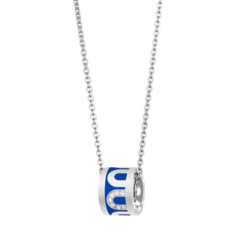 L'Arc de DAVIDOR Bead, 18k White Gold with Lacquered Ceramic and Colonnato Diamonds