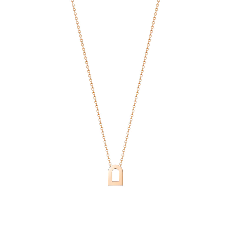 L'Arc Voyage Charm PM, 18k Rose Gold on Chain Necklace