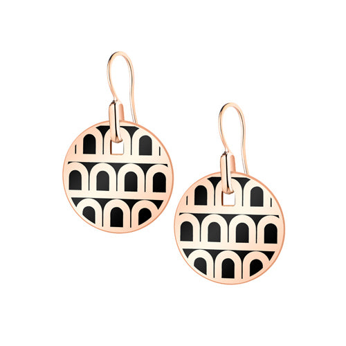 L'Arc de DAVIDOR Pendant Earring PM, 18k Rose Gold with lacquer