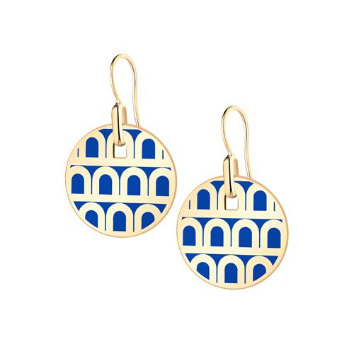 L'Arc de DAVIDOR Pendant Earring PM, 18k Yellow Gold with lacquer