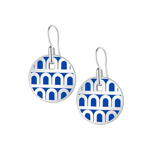 L'Arc de DAVIDOR Pendant Earring PM, 18k White Gold with Lacquered Ceramic